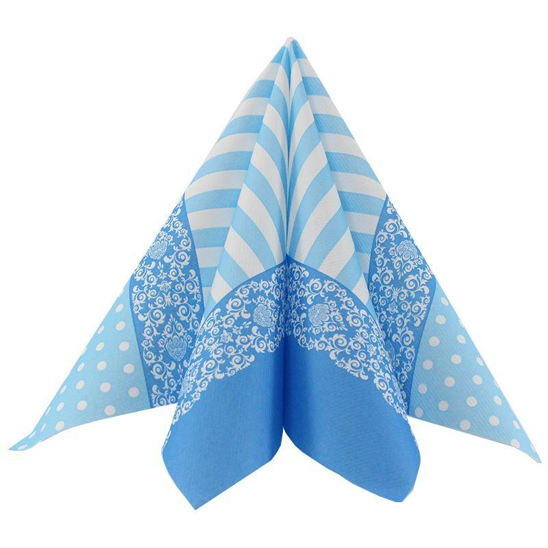 Airlaid-Tekstilserviet lyseblå Bine