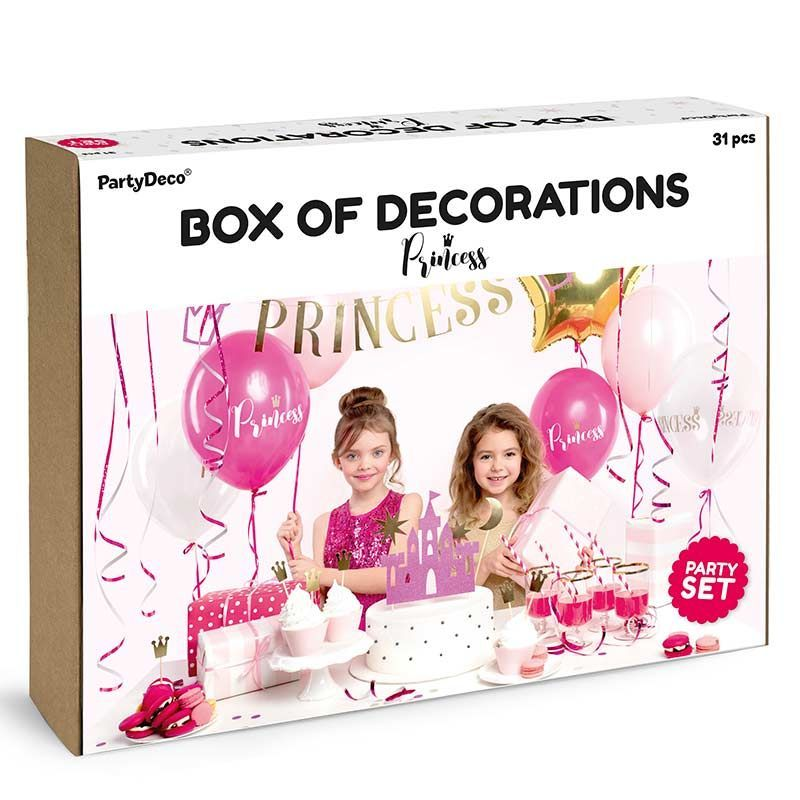 Prinsesse fødselsdags boks 31 dele