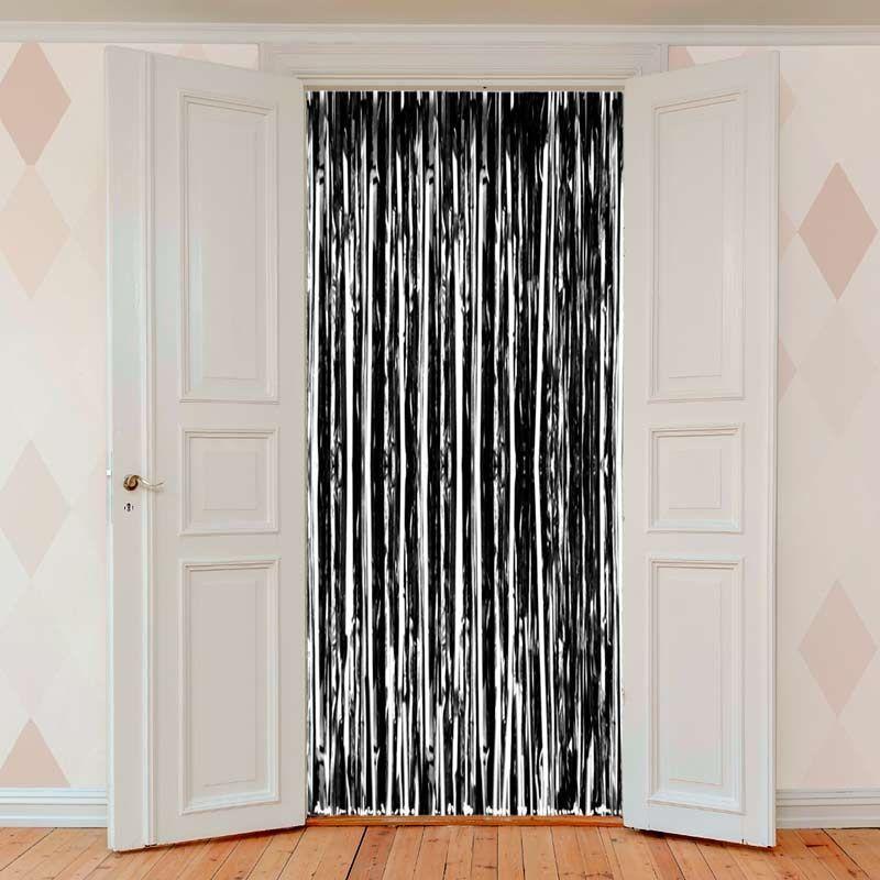 Sort Folie Dørgardin. 1 x 2 m.