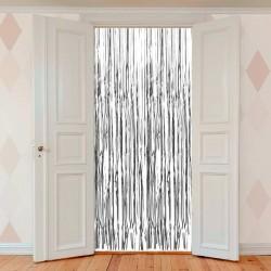 Sølv Folie Dørgardin. 0,90 x 2,5 m.
