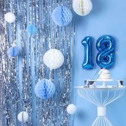 Sølv Folie Dørgardin til 18 års fødselsdag