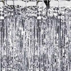 Sølv Folie Dørgardin til sølvbryllup