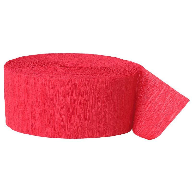 Crepepapir rød. 1 Stk