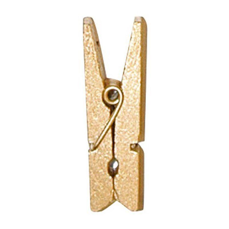 Guld mini klemme 2,5 cm. 24 stk