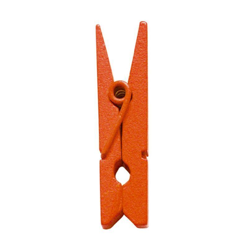 Orange mini klemme 2,5 cm. 24 stk