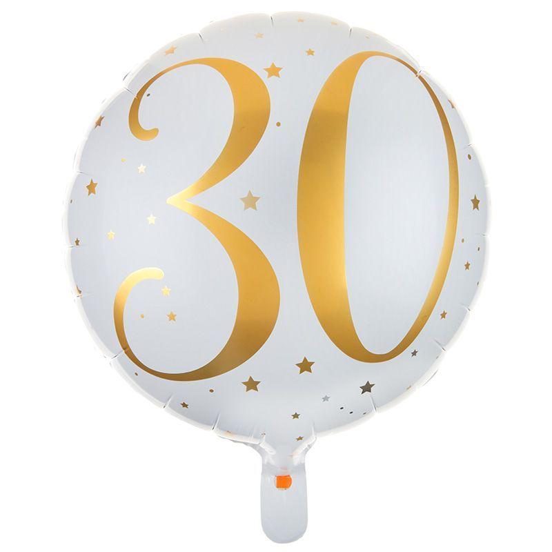 30 års folieballon 1 stk