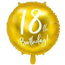Folieballon 18 år guld 45 cm