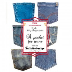 Felicita design toppers 9 x 9 cm A pocket for jeans
