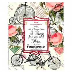 Felicita design toppers 9 x 9 cm A rose for an old bike