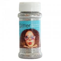 100 gram glitter - sølv