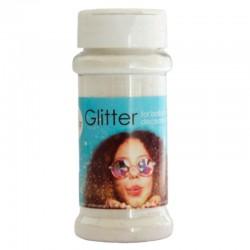 100 gram glitter - hvid