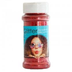 100 gram glitter - rød