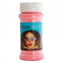 100 gram glitter - lyserød