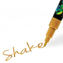 Shake tusch guld fin 2,5 mm