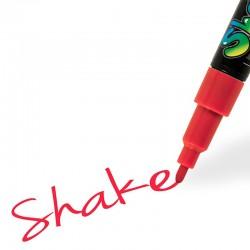 Shake tusch rød fin 2,5 mm