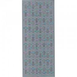 Stickers sølv Kors 882