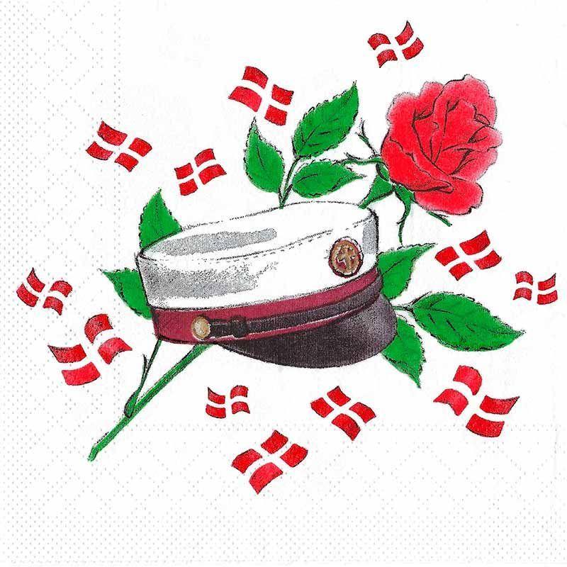 Frokostserviet mørkerød hue - rød rose