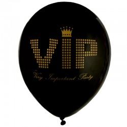 Sort VIP balloner 8 stk