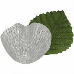 Sølv rosenblade og grønne blade