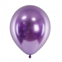 Lilla chrom balloner, 50 stk