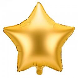 Satin guld folie stjerne ballon, 48 cm