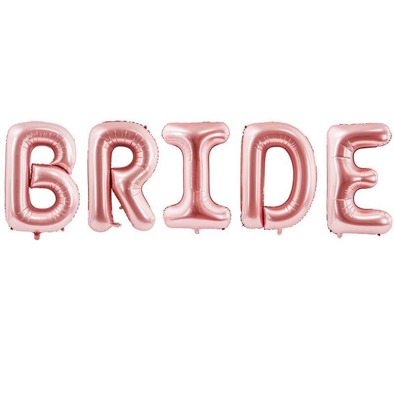 Folie ballon sæt BRIDE, 280 x 86 cm, rose gold