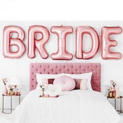 Folie ballon sæt BRIDE fest pakke