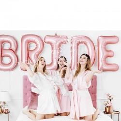 Folie ballon sæt BRIDE party in a box