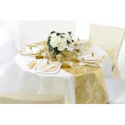 Bordløber sizoflor guld borddækning