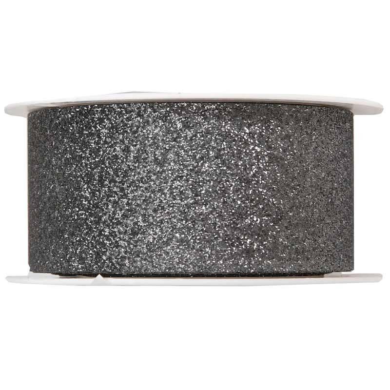 Koksgrå gavebånd med glitter