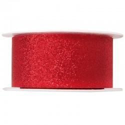 Rødt gavebånd med glitter