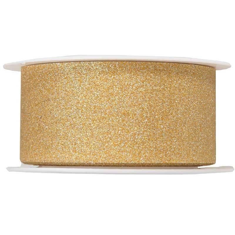 Guld gavebånd med glitter