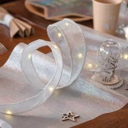 Led bånd sølv til jule borddækning