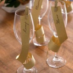 Glitter gavebånd guld til bryllup