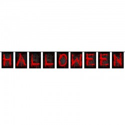 Sort rød Halloween banner. 1,2 m