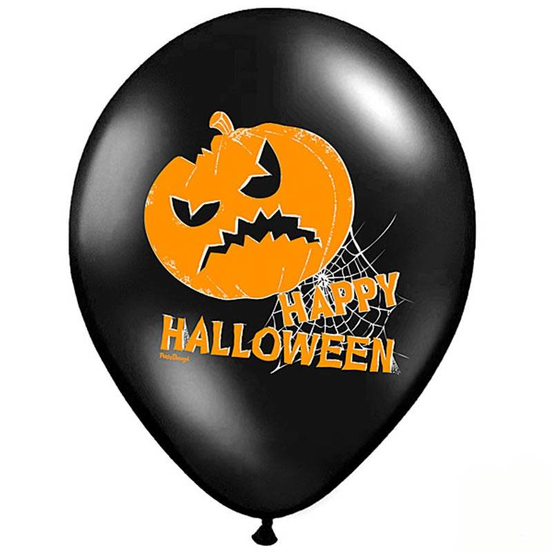 Sort Halloween balloner græskar