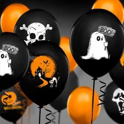 Sort Halloween balloner boo dekoration