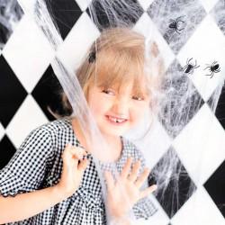 hvid spindelvæv halloween pynt