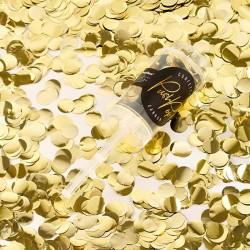 Guld push pop konfetti