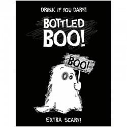 Flaske etiket Bottled Boo!. 10 Stk