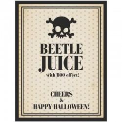 Flaske etiket Beetle juice. 10 Stk