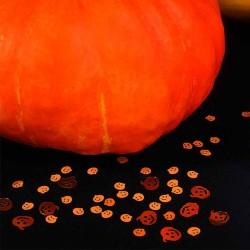 Halloween konfetti græskar bordpynt