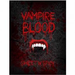Flaskelabel vampire blood. 10 Stk