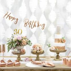 Rose Gold Paptallerkener 18 cm til fødselsdag