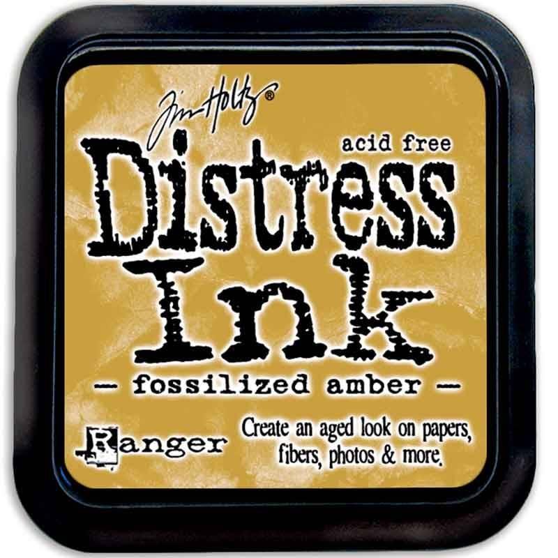 Stempelsværte fossilized amber Distress Ink