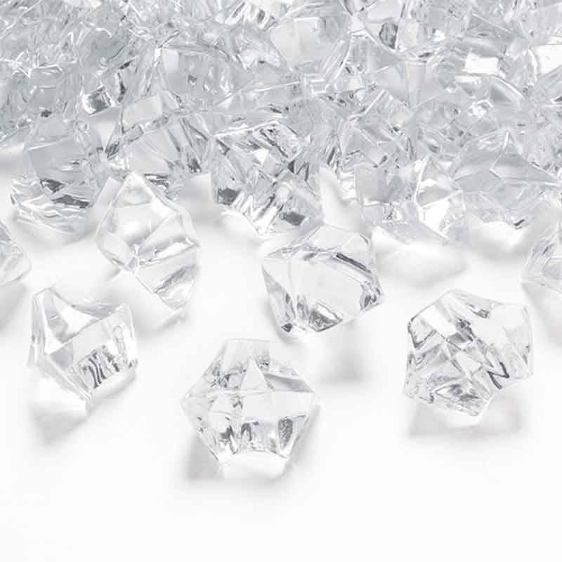 Klar krystal stor 50 stk.