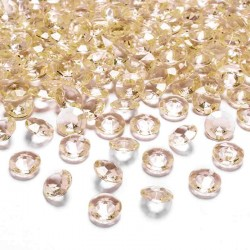 Gyldene pynte diamanter 12 mm. 100 stk.