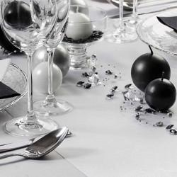 Hvid satin bordløber bryllupspynt