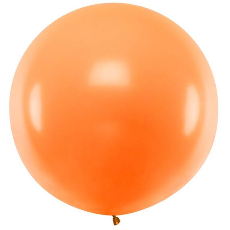 Stor ballon pastel orange 1 m