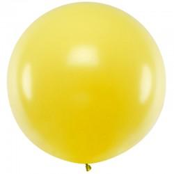 Stor ballon pastel gul 1 m